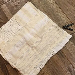 NWT crochet and quilted scarf.